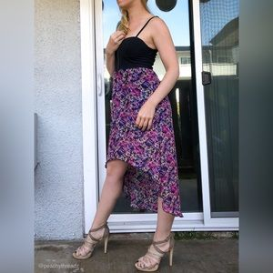 Material Girl floral high-low dress | barely worn